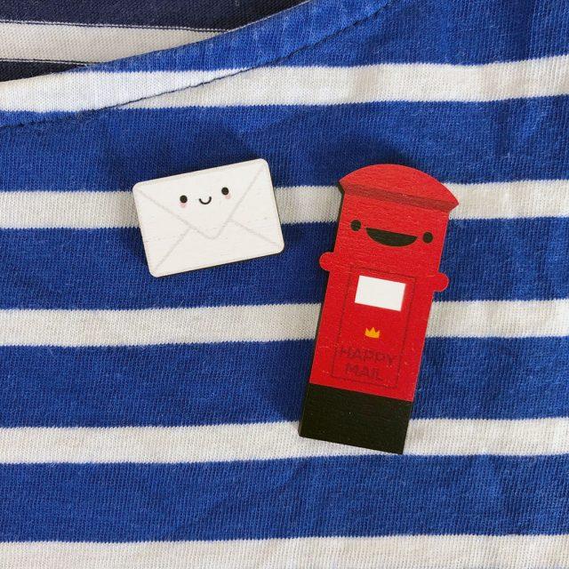 happy mail pins