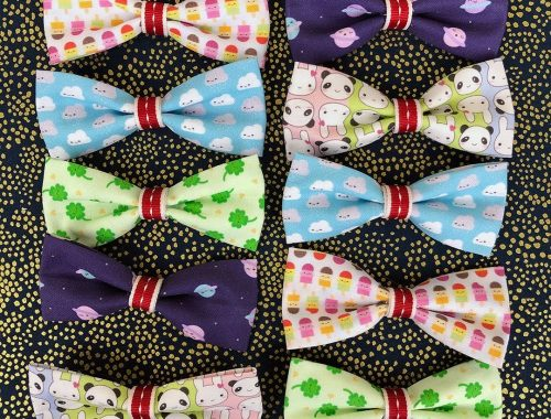 handmade fabric bows