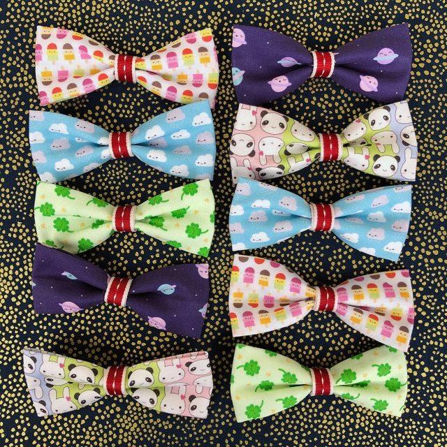 handmade fabric bows