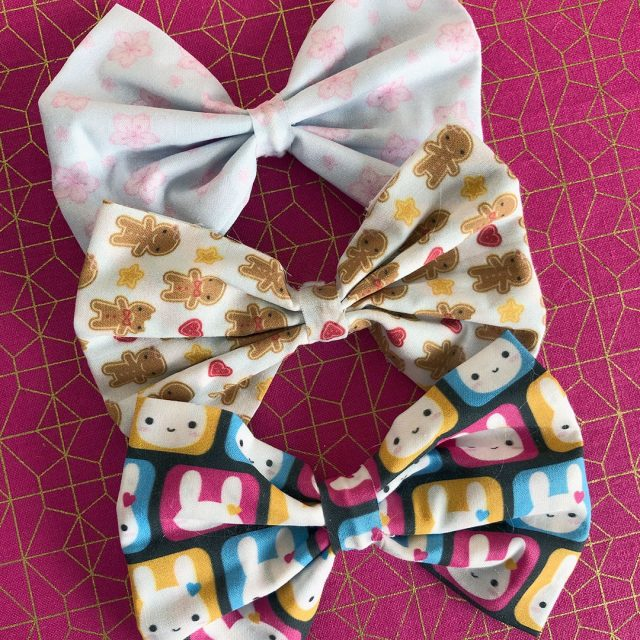 kawaii fabric bows