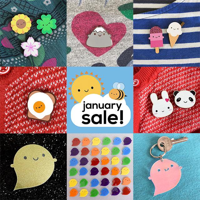 january sale kawaii pins