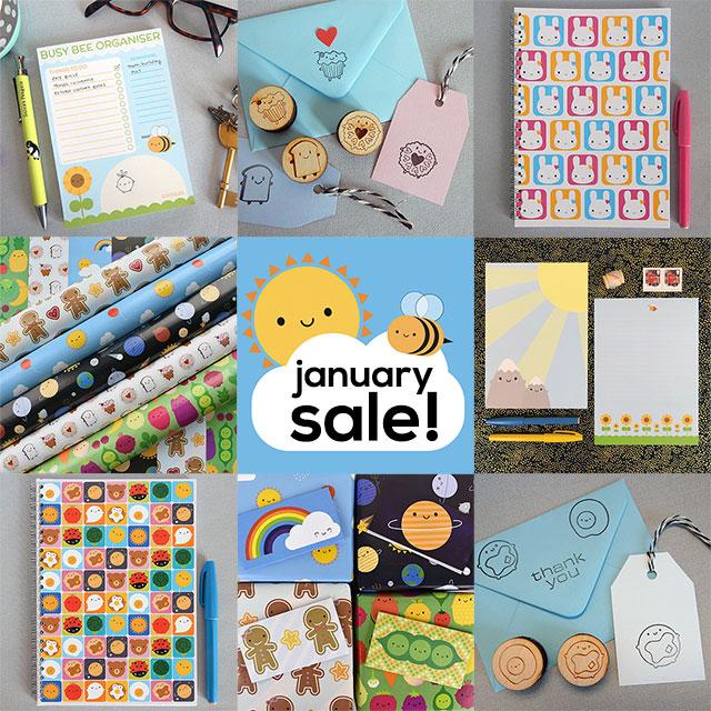 january sale kawaii stationery