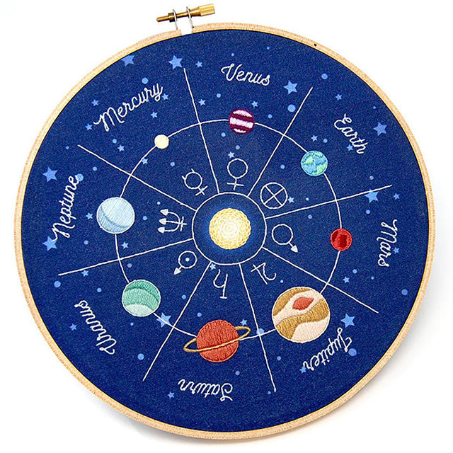 Planets embroidery kit by September House