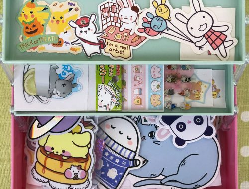 kawaii stationery organisation