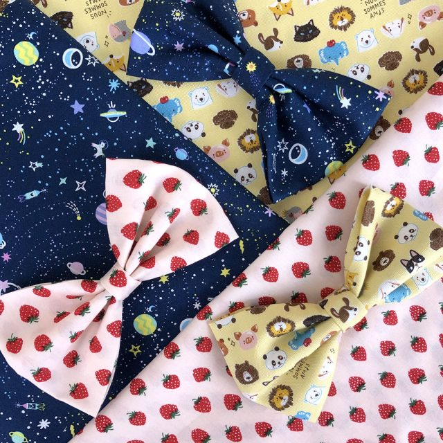 kawaii fabric hair bows