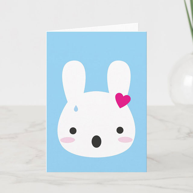shocked bunny card