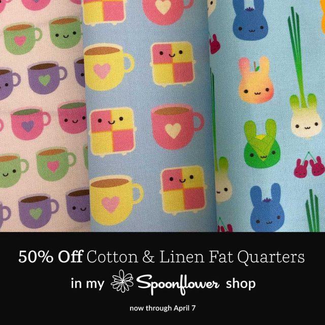 spoonflower kawaii fabric