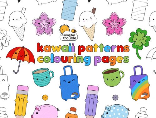 kawaii colouring pages