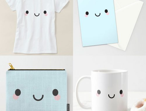 kawaii face at Society6, Redbubble & Zazzle