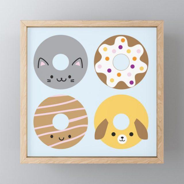 Kawaii Animal Donuts at Society6, Redbubble, TeePublic & Zazzle