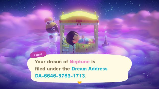 Animal Crossing Dream Address - Neptune