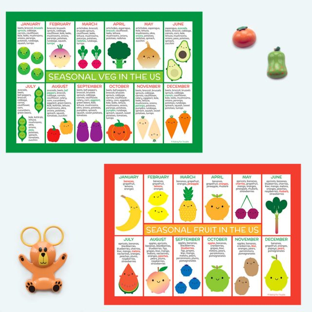 US Seasonal Fruit & Veg Charts