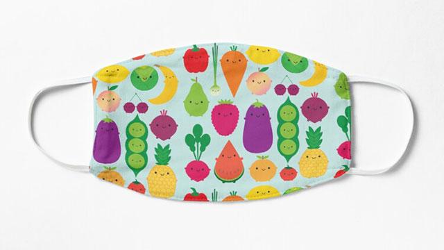 Kawaii fruit & vegetables Face Masks
