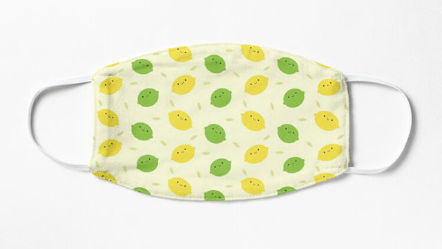 Kawaii Lemons & Limes Face Masks