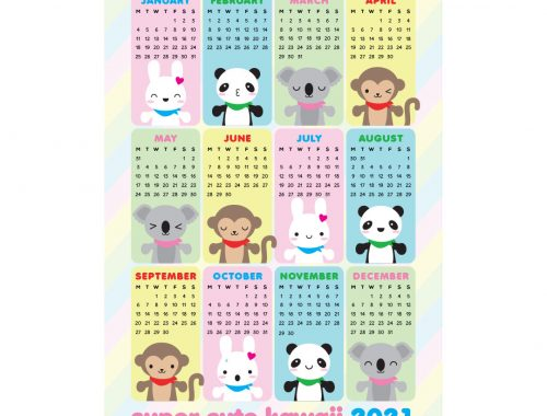super cute kawaii 2021 calendar