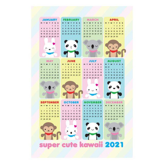 super cute kawaii 2021 calendar