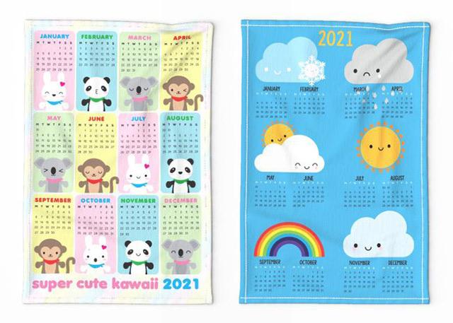 2021 tea towel calendars