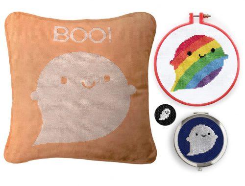 Halloween Ghosts cross stitch patterns