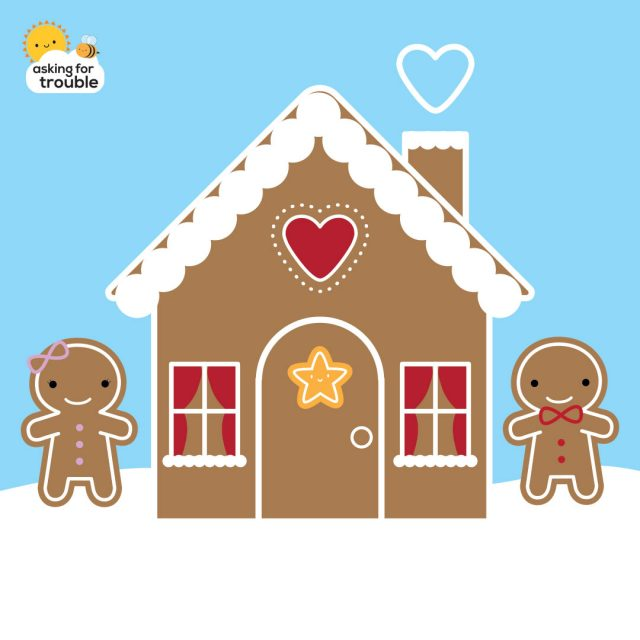 kawaii gingerbread house
