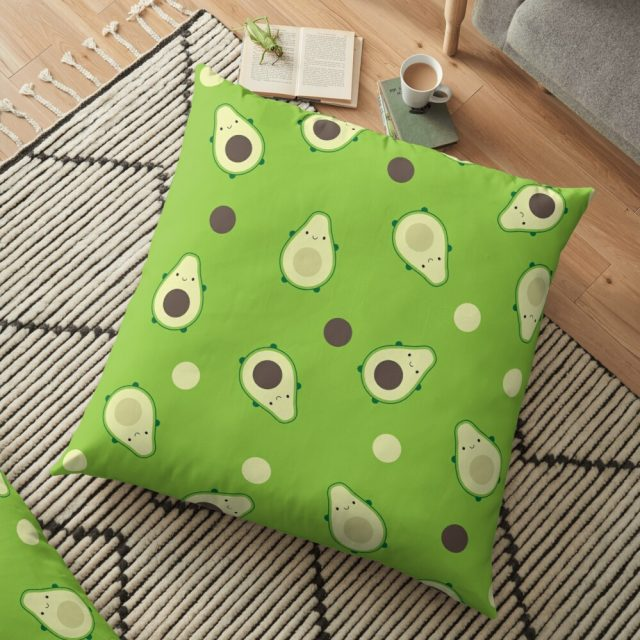 kawaii avocados pillow