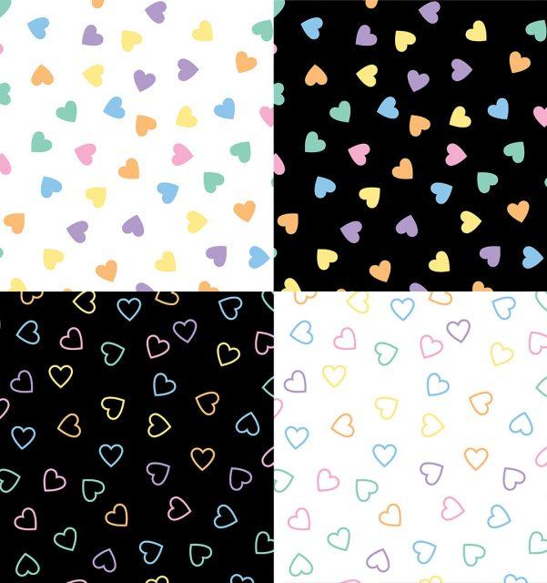 Kawaii Pastel Candy Hearts