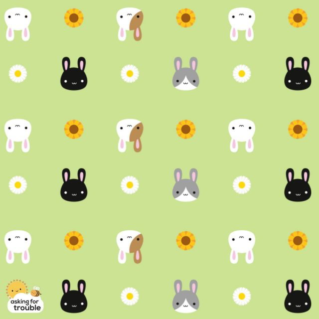 kawaii spring bunnies