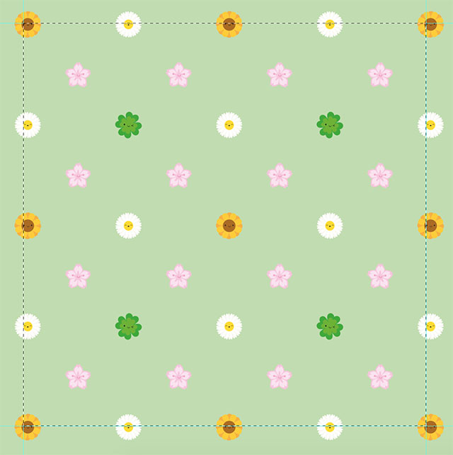 Designing my Spring Flowers Repeat Patterns