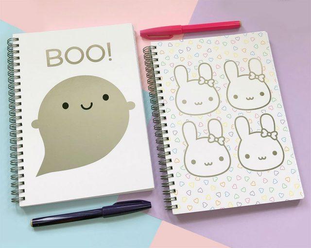 kawaii foil notebooks