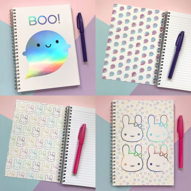 rainbow foil notebooks