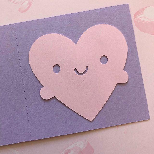paper craft heart card