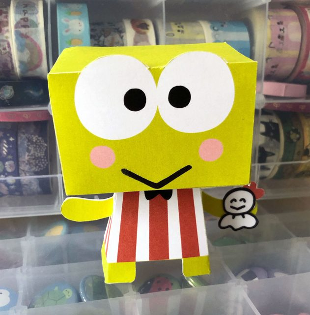 keroppi paper toy