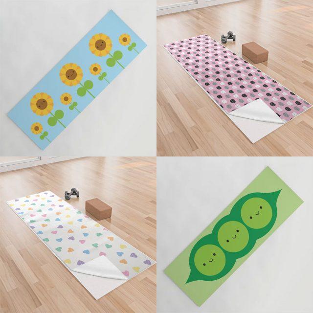 kawaii yoga mats & towels