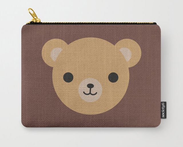 kawaii teddy bear pouch