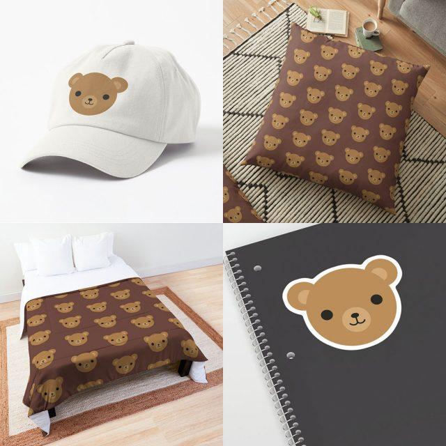 kawaii teddy bears on Redbubble, Society6, TeePublic & Zazzle
