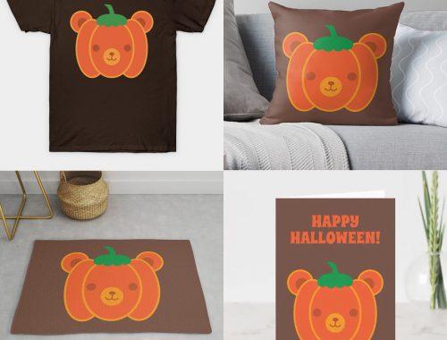 Pumpkin Bear on Redbubble, Society6, TeePublic & Zazzle