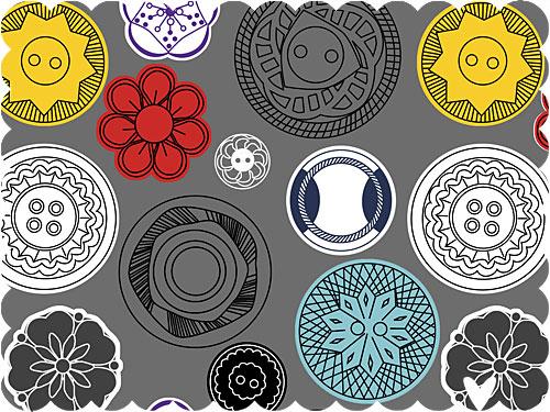vintage buttons pattern