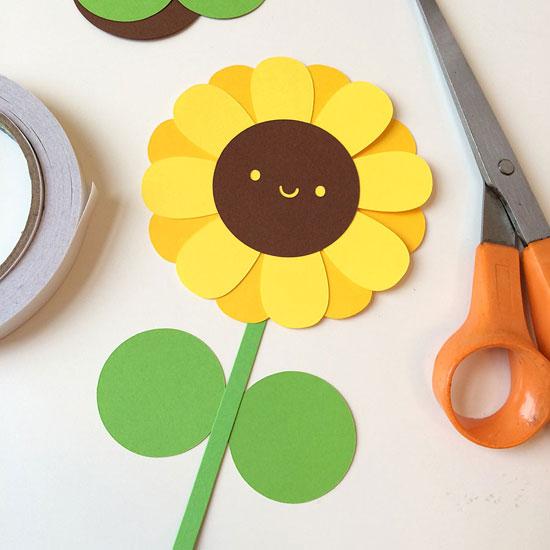 kawaii sunflower paper craft