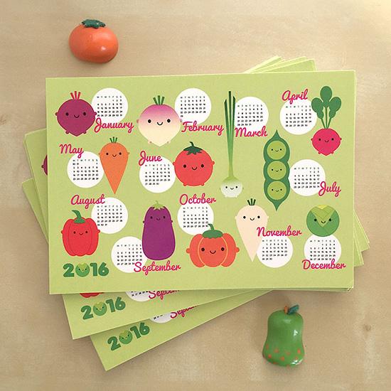 2016 calendar postcards