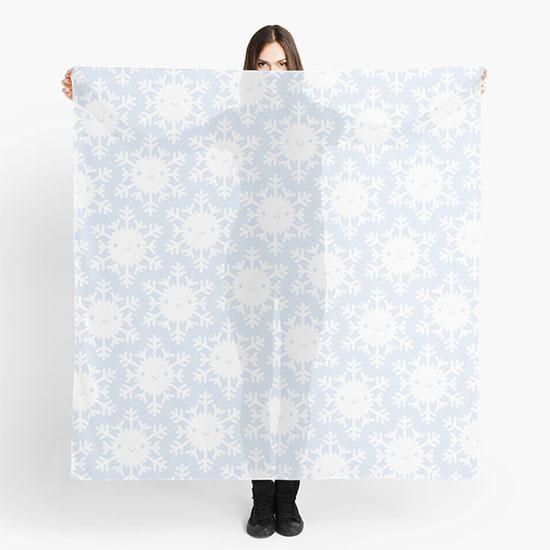 redbubble snowflakes scarf