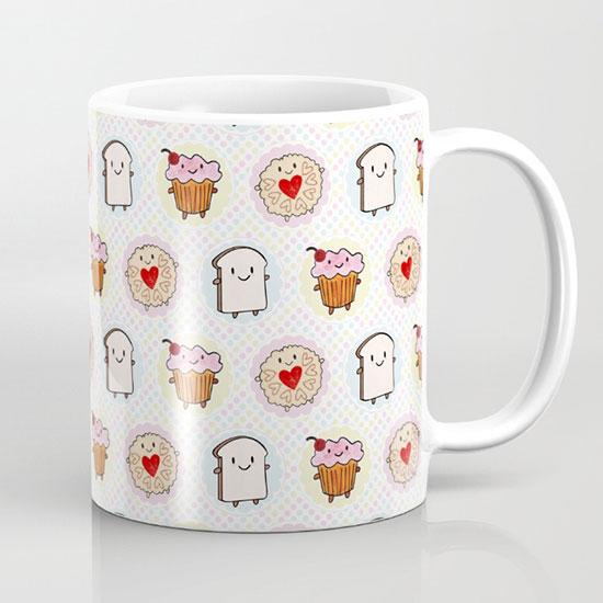 kawaii afternoon tea mug