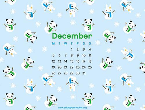 december wallpaper