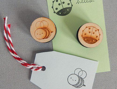 bumblebee ladybird stamps