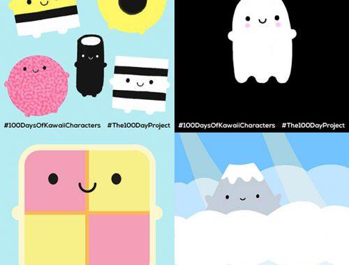 100 Days of Kawaii Characters