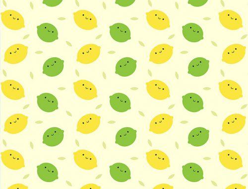 kawaii lemons and limes