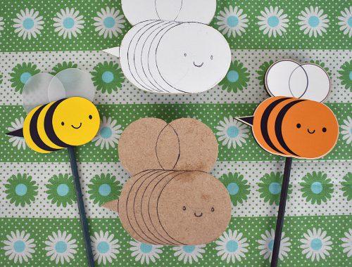 kawaii wooden bumblebee garden decorations