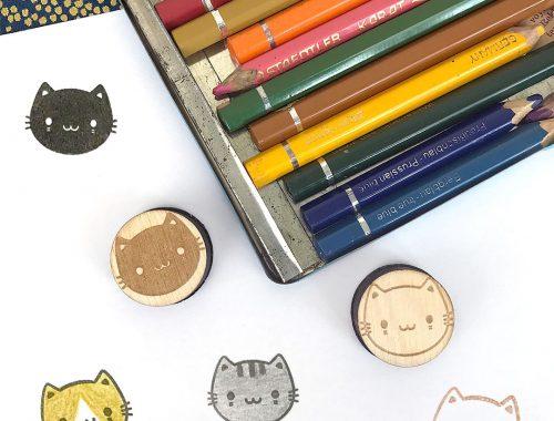 kawaii cats polymer stamps