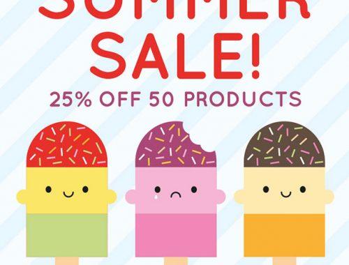 summer sale - 25% off!