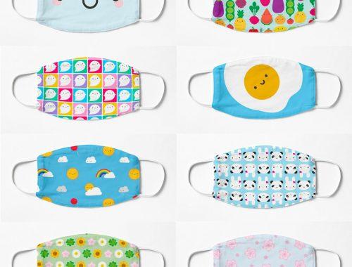 kawaii fabric face masks